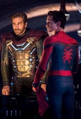 Tom Holland grabando la nueva película de Spider-Man