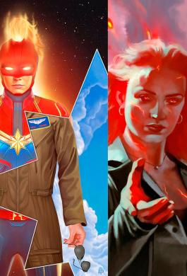 Capitana Marvel y Dark Phoneix