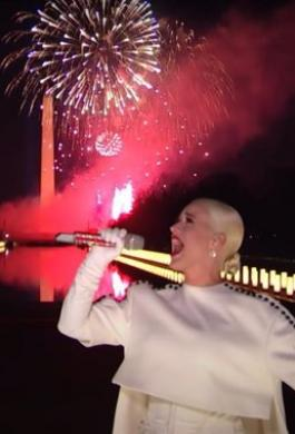 Katy Perry Fireworks Joe Biden