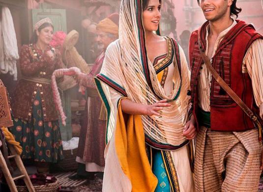 Jasmin y Aladdin en la nueva película