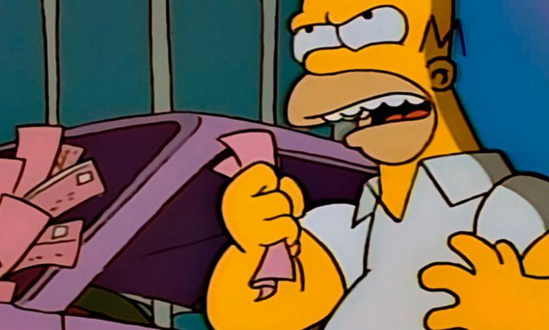 Homero Simpson diciendo groserías