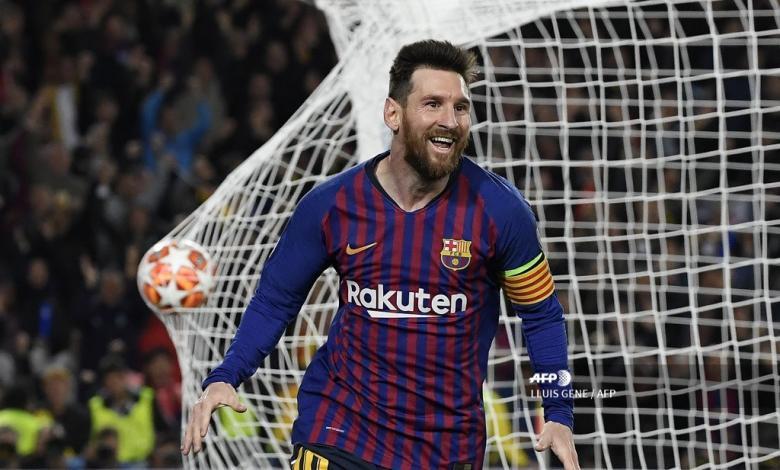 Lionel Messi celebrando el segundo gol de Barcelona ante Liverpool.