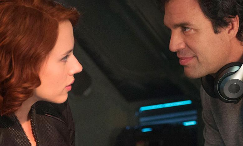 Bruce Banner y Natasha Romanoff en Avengers Age of Ultron