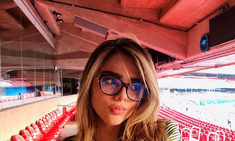 Juana Valentina apoyando a la Selección Colombia