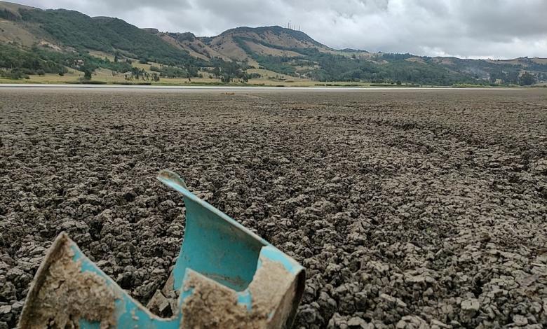 Sequía en la Laguna de Suesca