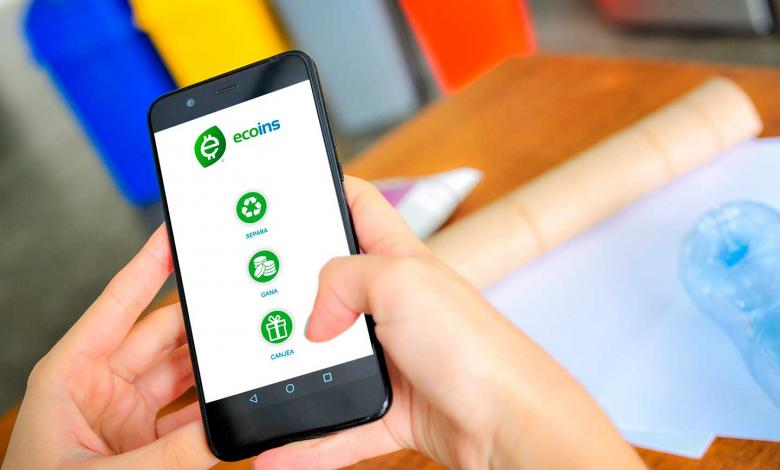 ecoins, plataforma que premia el reciclaje