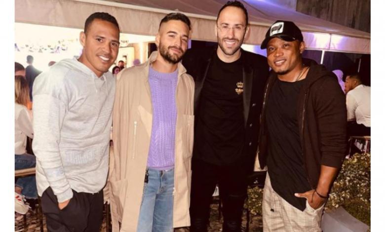 Aldo Leao, Maluma, David Ospina y Camilo Zúñiga