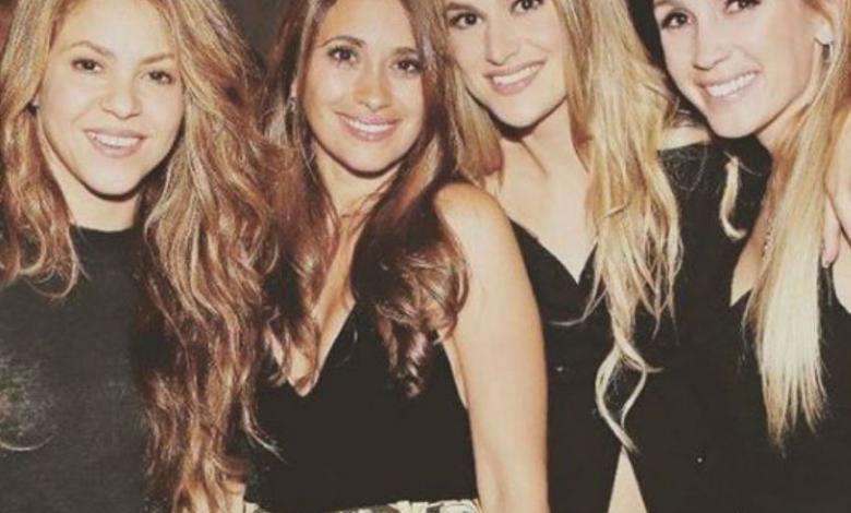 Shakira, Antonella Roccuzzo, Raquel Mauri y Sofía Balbi.