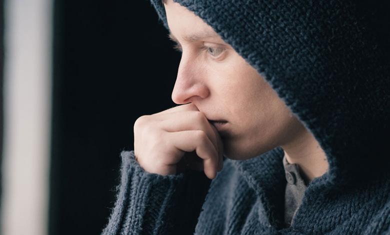 joven con depresión