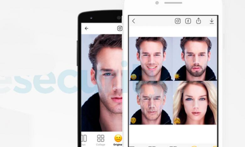 Faceapp página falsa