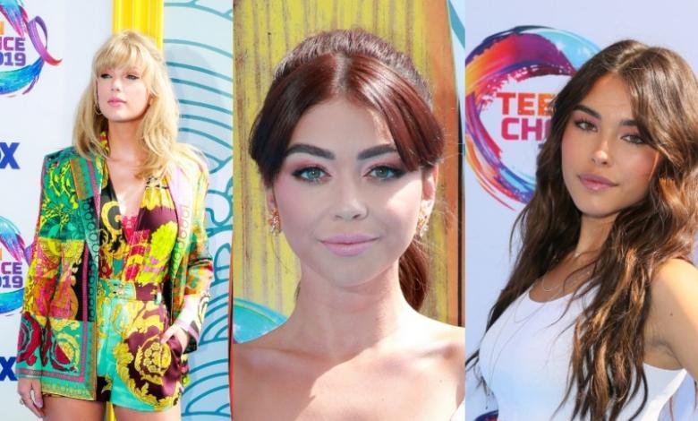 Famosas en los Teen Choice Awards