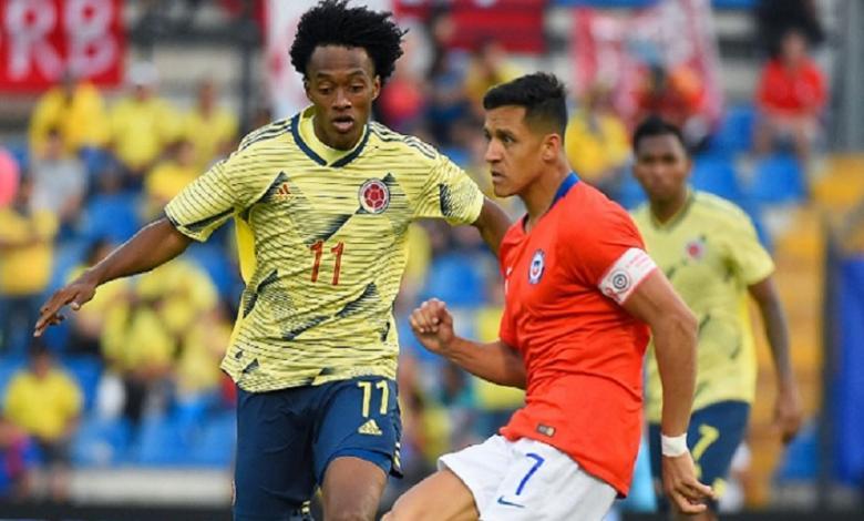 Partido Colombia ante Chile