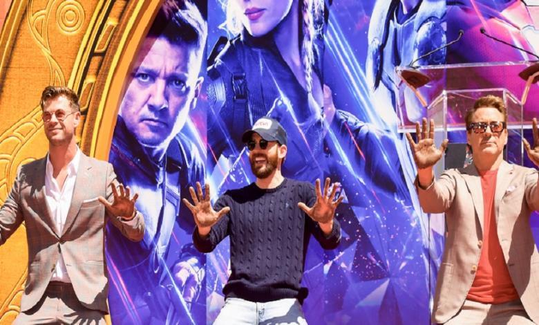 Chris Hemsworth,Chris Evans y Robert Downey Jr.
