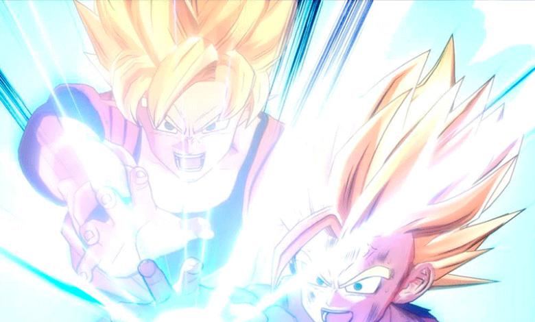 Goku y Gohan en Dragon Ball Kakarot
