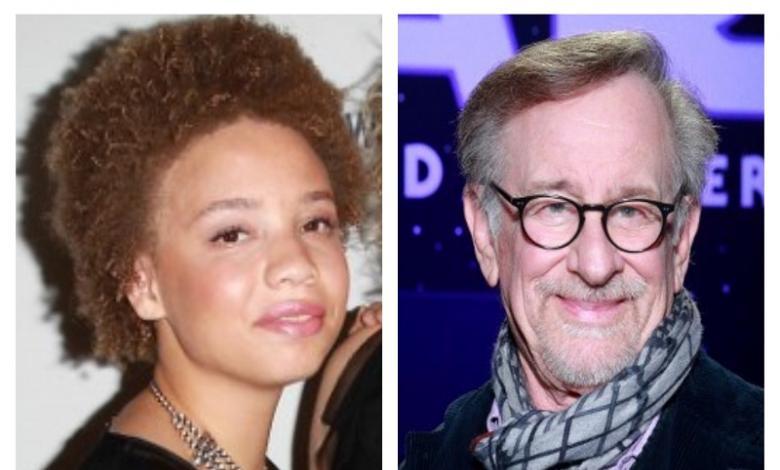 Steven y Mikaela Spielberg