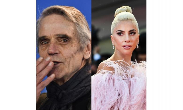 Lady Gaga y Jeremy Irons