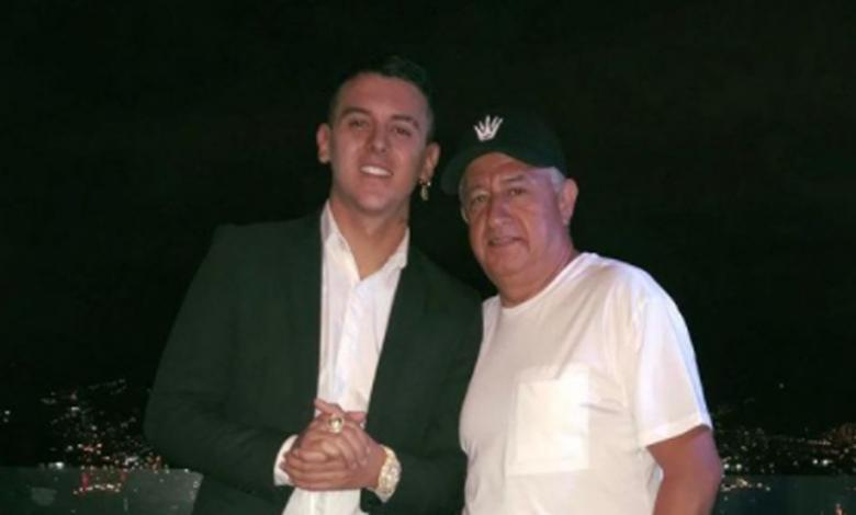 Kevin Roldán y su padre
