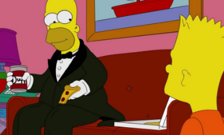 Homero Simpson elegante
