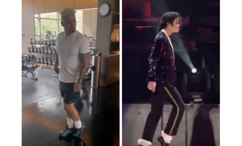 J Balvin bailando como Michael Jackson