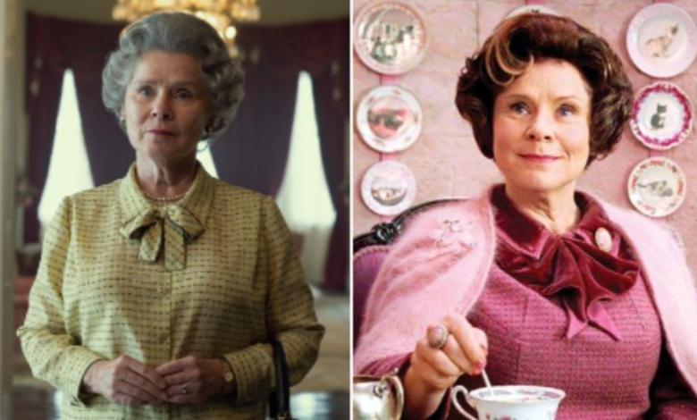 Imelda Staunton como la reina Isabel ll en 'The Crown'