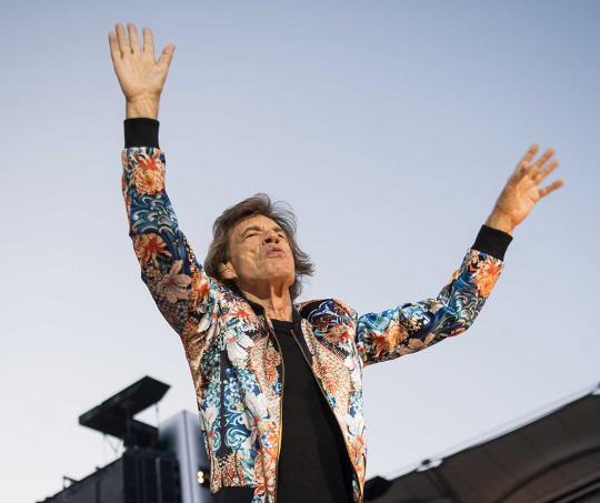 Mick Jagger en un concierto de The Rolling Stones en el Mercedes Benz-Arena