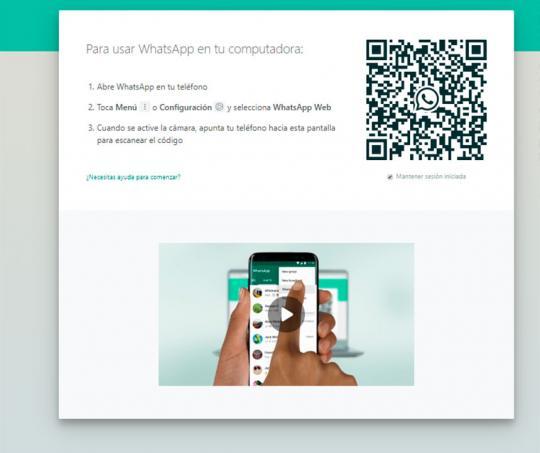 Código QR de WhatsApp Web