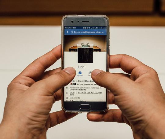 Facebook en su versión para móviles