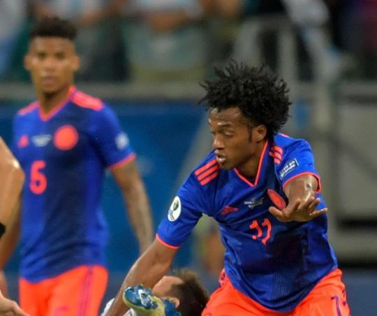 Juan Guillermo Cuadrado con la Selección Colombia