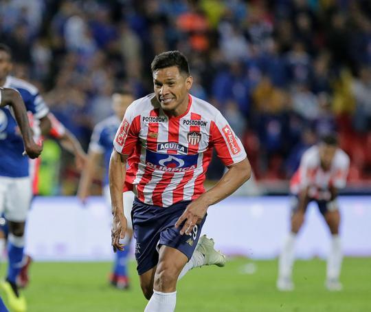 Teófilo Guitiérrez juega para el Junior de Barranquilla