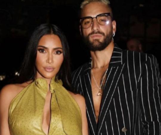 Kim Kardashian y Maluma