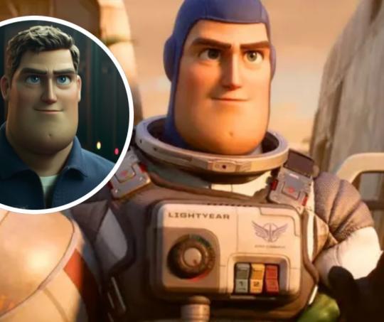 Buzz Lightyear en la nueva película de Pixar