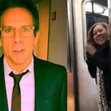 El actor se topó con una mujer en un tren y la reacción que tuvo ella llamó la atención de los internautas.