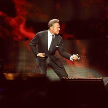 Luis Miguel en un concierto en España