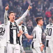 Cristiano Ronaldo juega con la Juventus