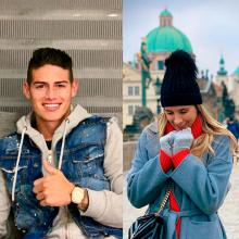 James Rodríguez y Daniela Ospina en Instagram