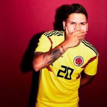 Juan Fernando Quintero con la camiseta de la Selección Colombia