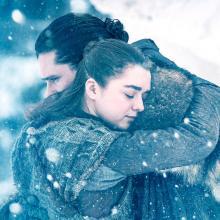 El encuentro de Arya Stark y Jhon Snow