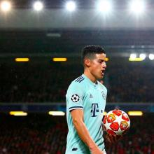 James Rodríguez con la camiseta del Bayern Múnich