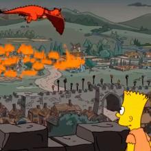 Ataque de dragón en los Simpson