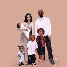 La familia West Kardashian