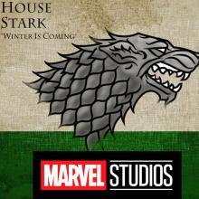 Casa Stark y logo de Marvel