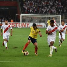 Radamel Falcao con la Selección Colombia ante Perú