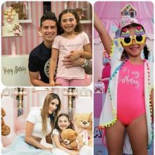 Celebración del cumpleaños de la hija de James y Daniela Ospina.