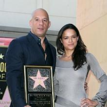 Vin Diesel y Michelle Rodríguez