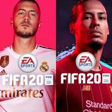 Eden Hazard y Virgil van Dijk en FIFA 20