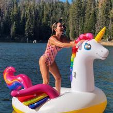 Claudia Bahamón de vacaciones