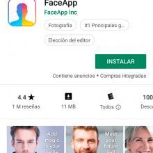 Faceapp en Google Play