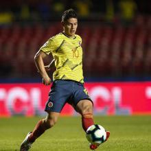 James Rodríguez  con la Selección Colombia