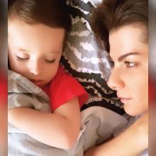 Carolina Cruz junto a Matías, su hijo