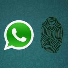WhatsApp tiene bloqueo con huella digital